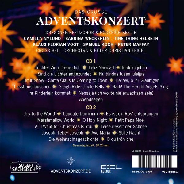 Das große Adventskonzert, Liederliste